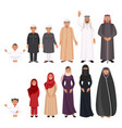 men and women traditioanal arabic clothes for all vector image