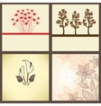 Vintage greeting cards set vector image
