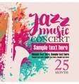 concert of jazz music festival vector image vector image