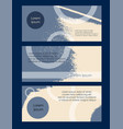 flyer grunge texture set abstract card blue vector image