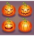 Set of Halloween pumpkin vector image vector image