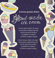 hand drawn sketched of hand-made ice cream vector image