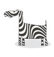 clip art zebra vector image
