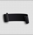 black realistic curved paper ribbon vector image