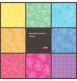 floral seamless pattern set background vector image