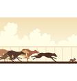 Greyhound dog race vector image