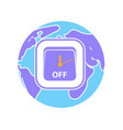 icon earth hour vector image