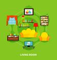living room design vector image