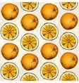 Orange geometric background vector image