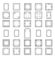 Set square frames vector image
