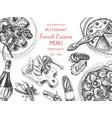 sketch - breakfast card menu vector image
