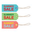 summer sign set vector image