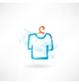 t-shirt grunge icon vector image