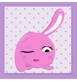 glamorous bunny vector image