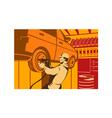 Mechanic Automotive Repairman Retro vector image vector image