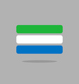 Sierra Leone flag state symbol stylized geometric vector image