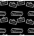 Seamless pattern open closed welcome Hand vector image