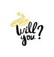 will you calligraphy postcard poster graphic vector image