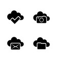 web cloud simple related icons vector image