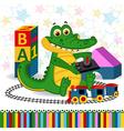 rocodile railroad vector image