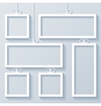 Group of White Frames vector image vector image