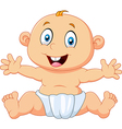 Cute baby boy sitting isolated on white background vector image vector image