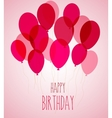 Birthday party balloons in pink vector image