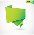 Abstract green banner isolated on the white vector image