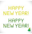 Balloon Happy New Year Phrase vector image