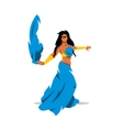 Belly dance girl in traditional dress vector image