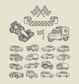 Car icons sketch vector image