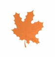Maple leaf icon cartoon style vector image