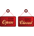Open closed vector image