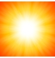 Orange shining sun vector image