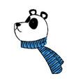 panda bear christmas cartoon with scarf vector image