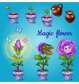 Rearing of predatory flower vector image