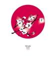 sakura in the red circle vector image