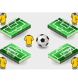 Set of Soccer Penalty Area and Icons vector image