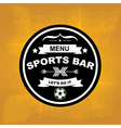 Sports bar menu template design vector image