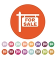 The for sale icon Sale symbol Flat vector image