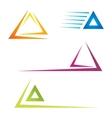 Trangle icons vector image