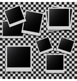 Abstract photo frames set vector image