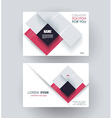 Business card design with abstract rhombus vector image vector image