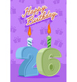 26 year Happy Birthday Card vector image