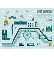 Visit London vector image