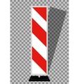 Road signs Orange Badge guardrails on transparent vector image vector image