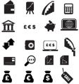 money icons silhouette vector image