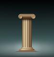 Antique beige column vector image