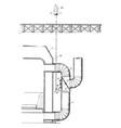 Furnace damper vintage vector image