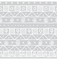 Native skull seamless pattern vector image